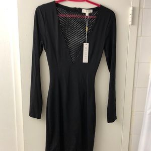 MESHKI black party dress with studs